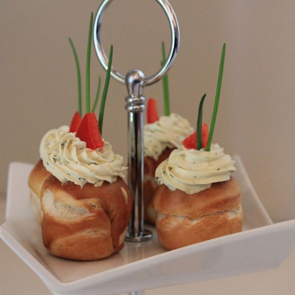 Brezen Cupcakes mit Frischkaese