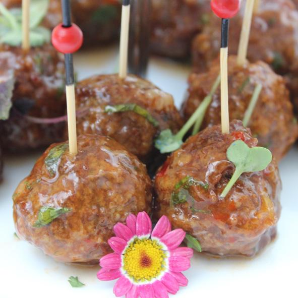 Falafel mit Lamm und Minz-Sauce