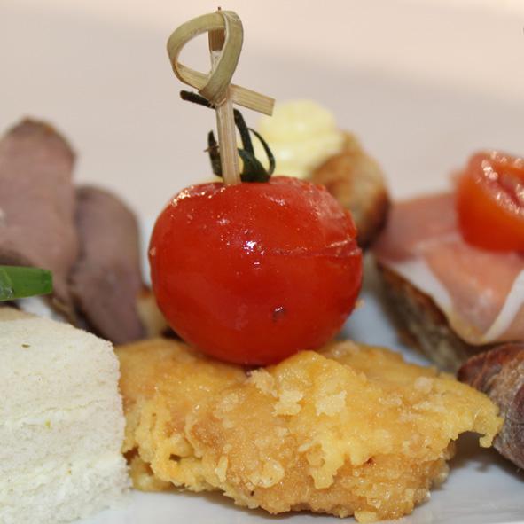 Piccatawuerfel a la Milanese von der Pute