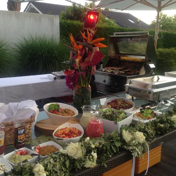 Grill buffet Hochzeit BBQ