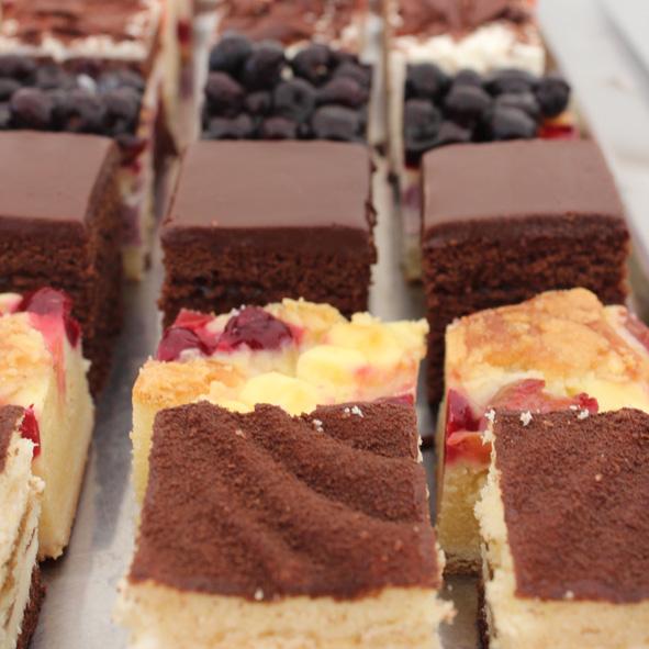 Kuchenplatte gemischt