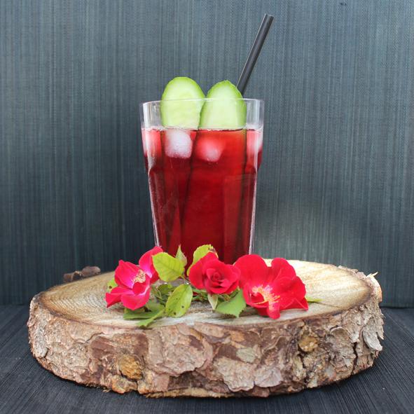 Rote Gurke Zora Cocktailglas