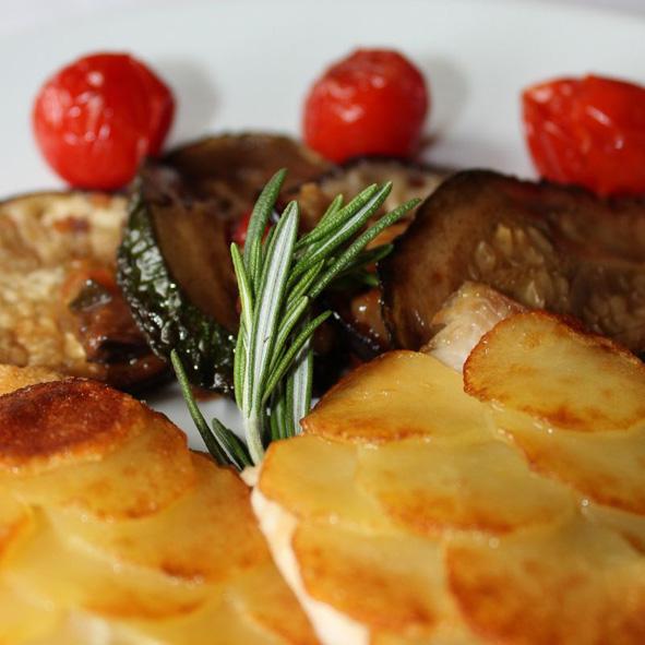 Saibling mit Kartoffelkruste