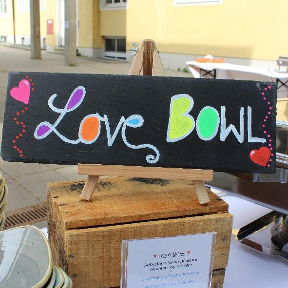 kl. Bowl Schild Love
